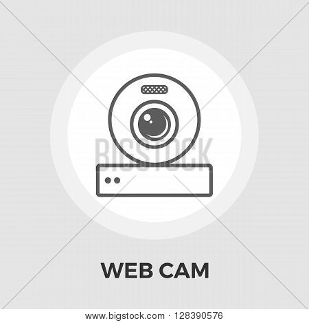 Web cam icon vector. Flat icon isolated on the white background. Editable EPS file. Vector illustration.