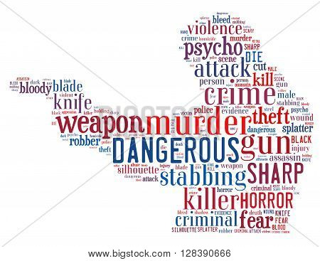 Gun Murder, Word Cloud Concept 6