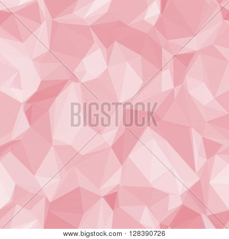 Abstract Background, Colorful Low Poly Pink Design. Vector