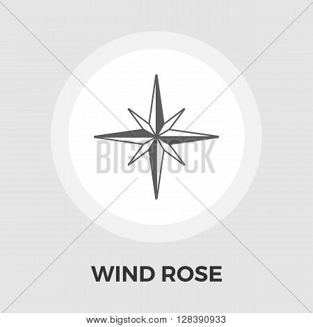 Wind rose icon vector. Flat icon isolated on the white background. Editable EPS file. Vector illustration.