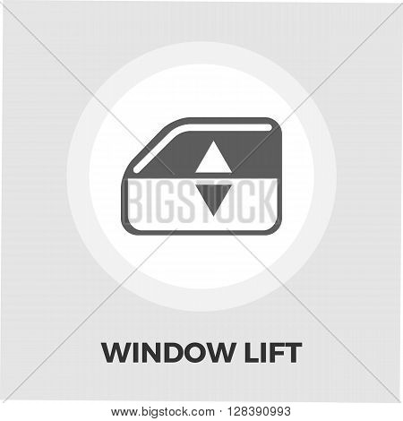 Window lift icon vector. Flat icon isolated on the white background. Editable EPS file. Vector illustration.