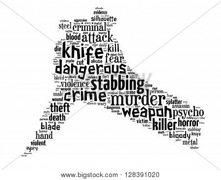 Knife Murder, Word Cloud Concept