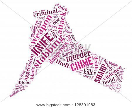 Knife Murder, Word Cloud Concept 4