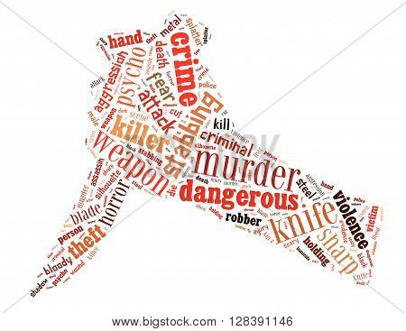 Knife Murder, Word Cloud Concept 6