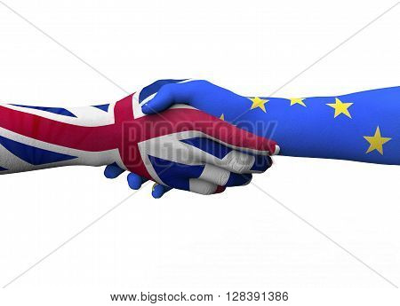 Englisch Hand Shaking European Hand Isolated On White