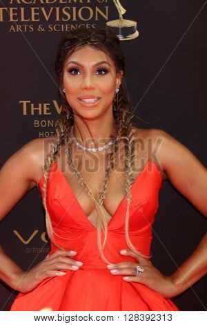LOS ANGELES - MAY 1:  Tamar Braxton at the 43rd Daytime Emmy Awards at the Westin Bonaventure Hotel  on May 1, 2016 in Los Angeles, CA