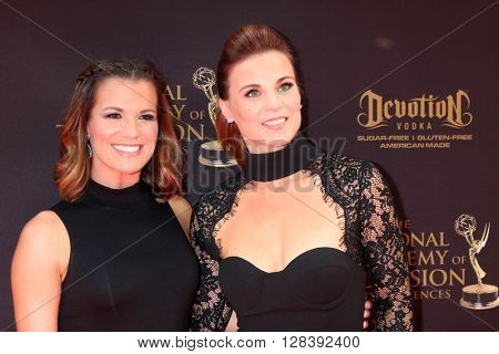 LOS ANGELES - MAY 1:  Melissa Claire Egan, Gina Tognoni at the 43rd Daytime Emmy Awards at the Westin Bonaventure Hotel  on May 1, 2016 in Los Angeles, CA