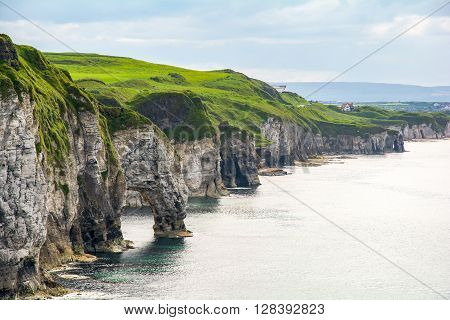 Coastland Of Ireland, Wild Atlantic Way, Cliffs At Giants Causway