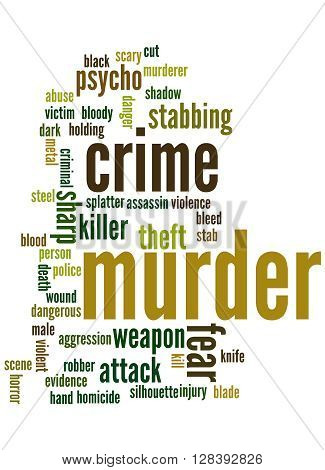 Murder, Word Cloud Concept