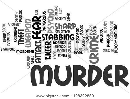 Murder, Word Cloud Concept 5