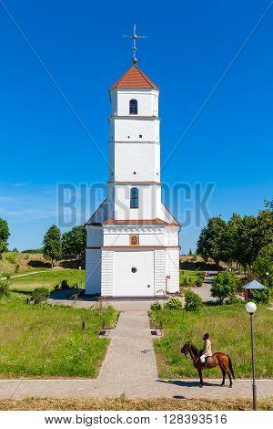 Zaslavl Belarus 03-July-2015: Transfiguration Cathedral in Zaslavl city Minsk region. Belarus.