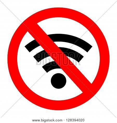 No signal sign vector,no signal area. Vector illustration.