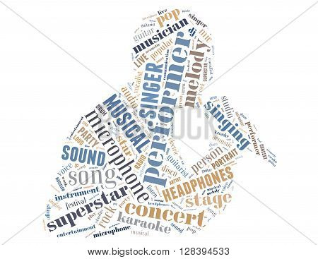 Singer Performer, Word Cloud Concept