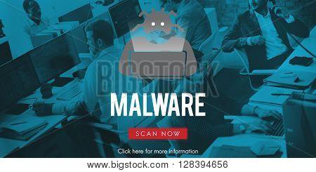 Spyware Malware Scam Spam Virus Concept