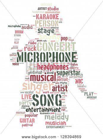 Singer Performer, Word Cloud Concept 6