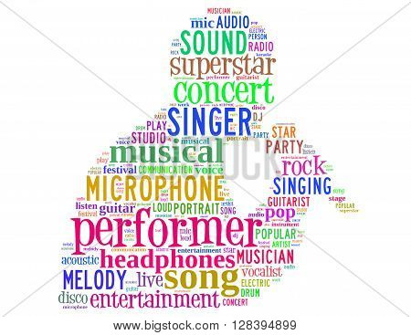 Singer Performer, Word Cloud Concept 7