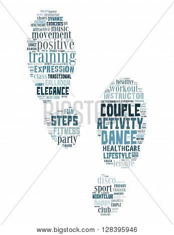Step By Step Dance, Word Cloud Concept