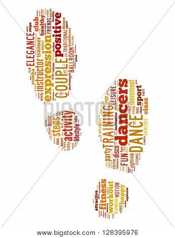 Step By Step Dance, Word Cloud Concept 2