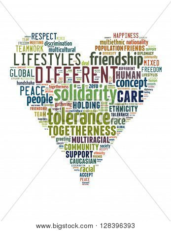 Tolerance Heart Word Cloud