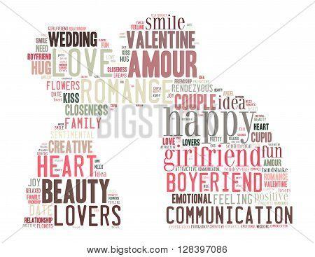 True Love, Word Cloud Concept 3
