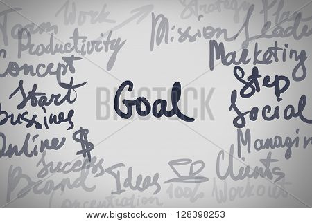 Hand Written Text Different Business Word Concept
