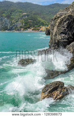 Monterosso al mare (Cinque terre) - scenic Ligurian coast, Italy