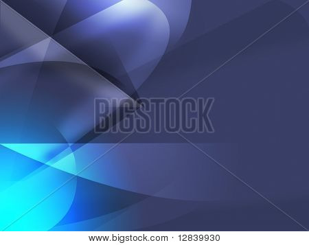 Modern abstract digital shapes and light elements on purple background