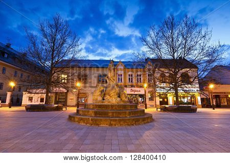 MARTIN, SLOVAKIA - MAY 2, 2016: Square in the centre of Martin, Slovakia on May 2, 2016.