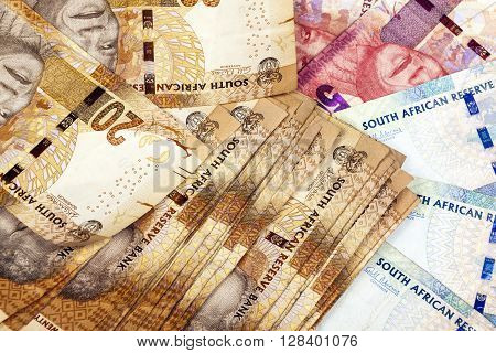 Twenty Fifty And Hundred Rand South African Bank Notes