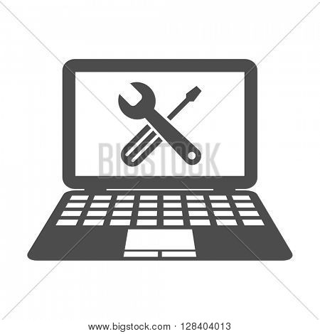 computer service repair web symbol vector icon