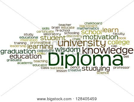 Diploma, Word Cloud Concept 8