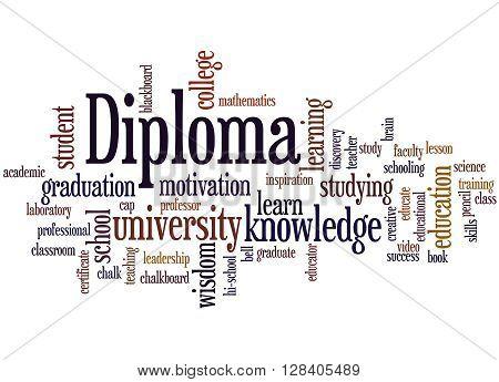 Diploma, Word Cloud Concept 9