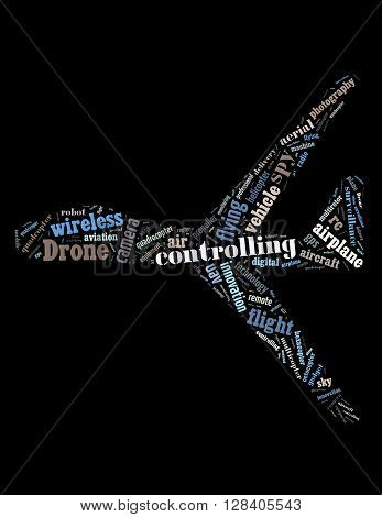 Drone Flying, Word Cloud Concept 2