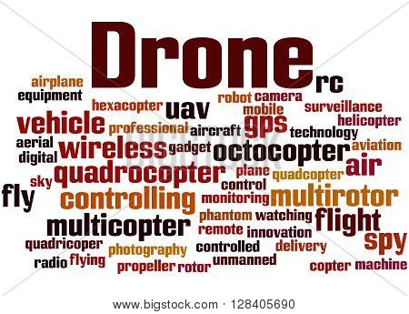 Drone, Word Cloud Concept