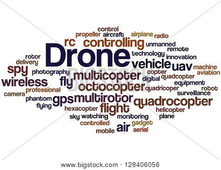 Drone, Word Cloud Concept 6