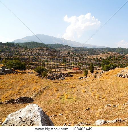 From The Hill In Asia Turkey Selge Old Architecture Ruins And Nature