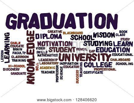 Graduation, Word Cloud Concept 3