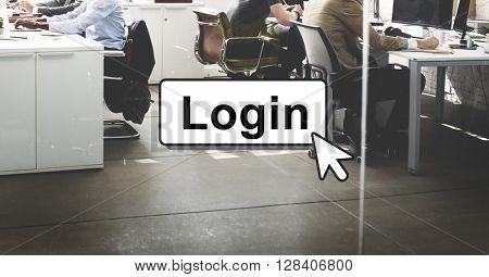Login Online Digital Technology Click Concept