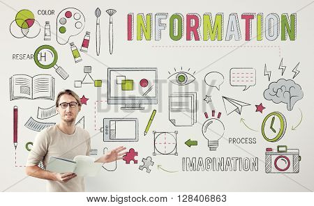 Information Research Imagination Facts Concept