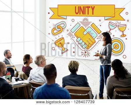 Unity Teamwork Cooperation Collaboration Concept