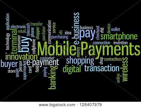 Mobile Payments, Word Cloud Concept 2