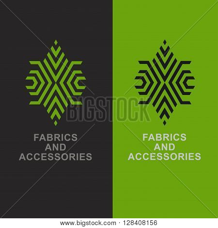Abstract emblem- textiles, fabrics and accessories. Vector logo design template for needlework, sewing, tailoring and ateliers