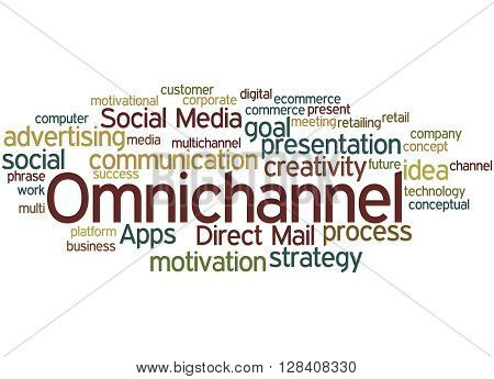 Omnichannel, Word Cloud Concept