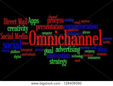 Omnichannel, Word Cloud Concept 4
