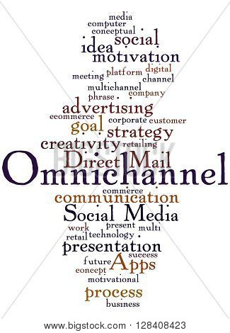 Omnichannel, Word Cloud Concept 6