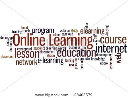 Online Learning, Word Cloud Concept