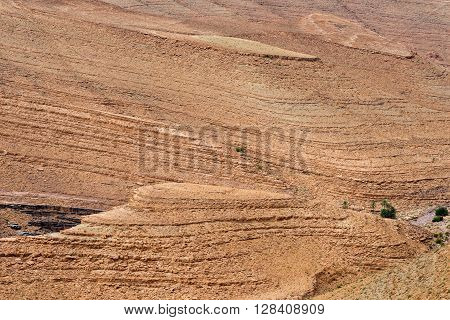 Rock formations in Atlas mountains west of Agdz near Tizi-n-Tinififft mountain pass