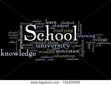 School, Word Cloud Concept 6