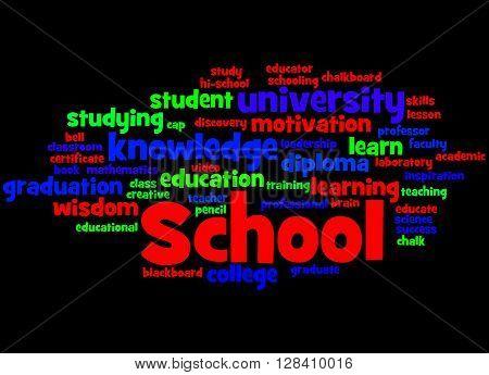 School, Word Cloud Concept 8