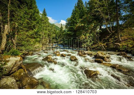 stream in the mountains in the national park Hohe Tauern in Austria.